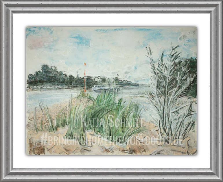 Katja_Schmitt_Rheinkilometer_703_Pastel_Painting_Frame