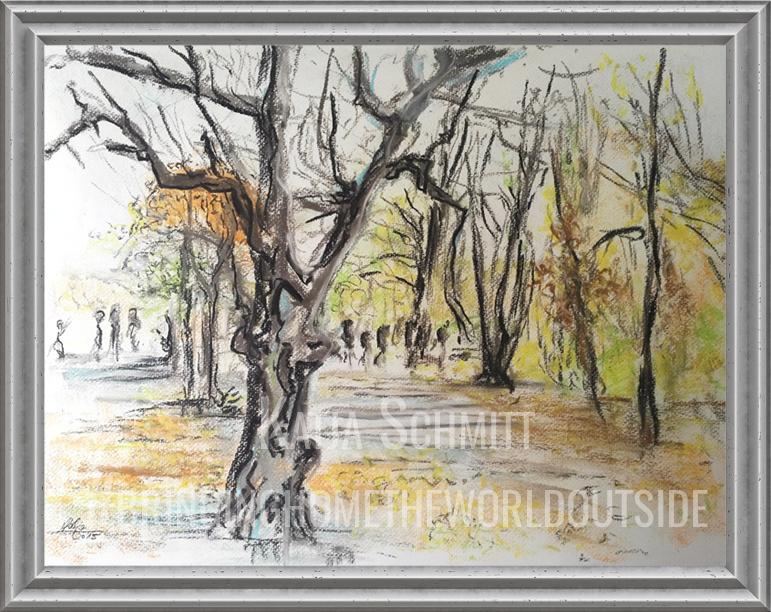 Katja_Schmitt_Vienna_Schonbrunn_Pastel_Painting_Frame