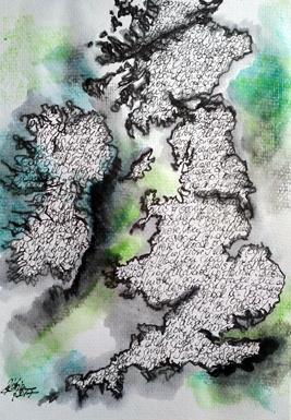 Katja_Schmitt_Cartographers Art_British Isles_Ink_Watercolour