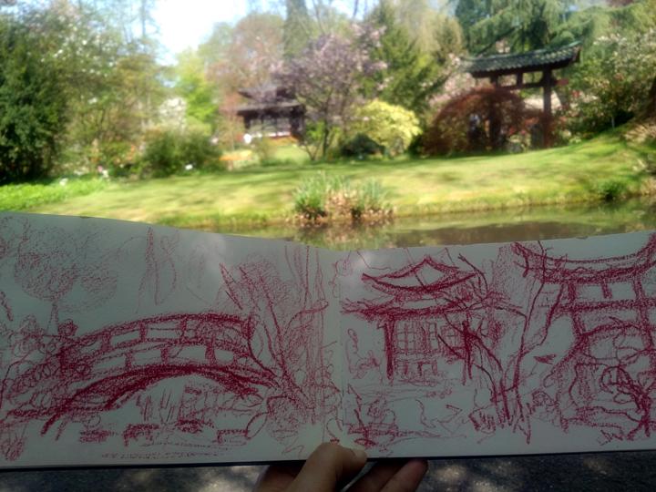 Katja_Schmitt_Japanese Garden Leverkusen_Sketchbook