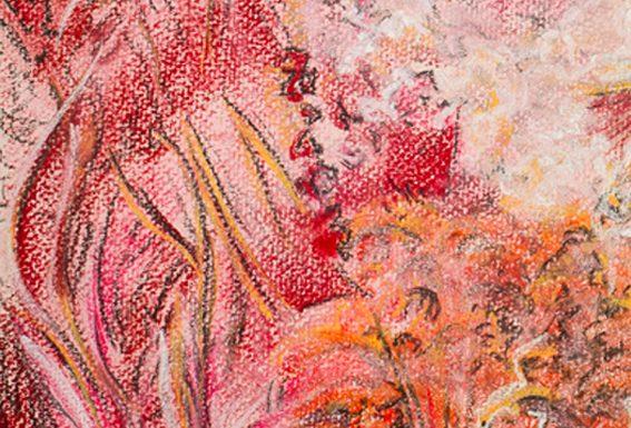 Katja_Schmitt_Japanese Garden Red_Pastel Painting Feature