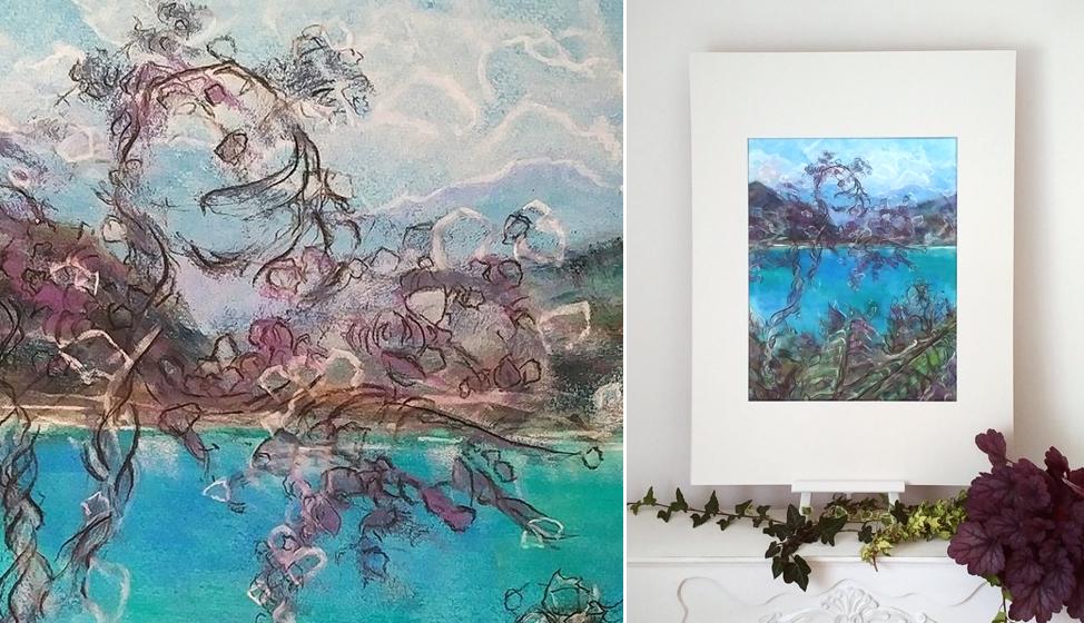 Katja Schmitt New Zealand Abel Tasman 1 Pastel Painting