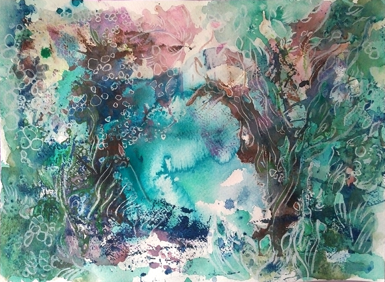 Katja Schmitt New Zealand Abel Tasman 3 Watercolour Aquarell