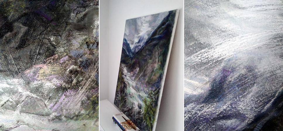 Katja Schmitt New Zealand Aoraki Mt Cook Hooker Valley 1 Pastel Painting