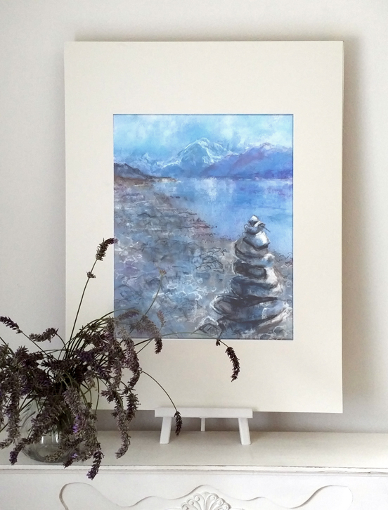 Katja Schmitt New Zealand Aoraki Mt Cook Lake Pukaki 1 Pastel Painting