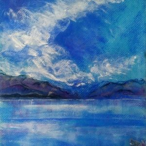 Katja Schmitt New Zealand Aoraki Mt Cook Lake Pukaki 2 Pastel Painting