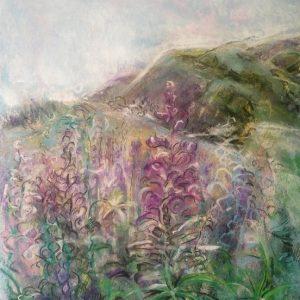 Katja Schmitt New Zealand Cardrona 1 Pastel Painting