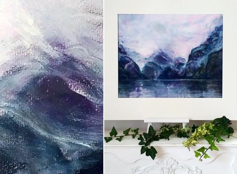 Katja Schmitt New Zealand Doubtful Sound Fiordland 1 Pastel Painting