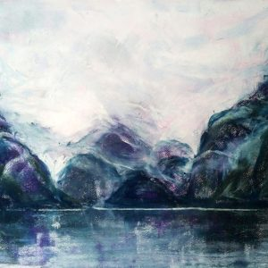Katja Schmitt New Zealand Doubtful Sound Fiordland 1 Pastel Painting