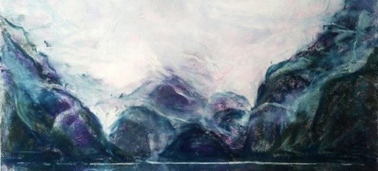 Katja Schmitt New Zealand Doubtful Sound Pastel Study