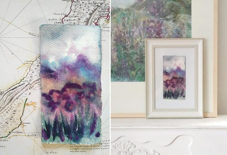 Katja Schmitt New Zealand Flowers 3 Watercolor Aquarell Painting