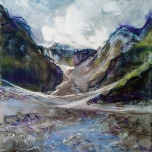 Katja Schmitt New Zealand Fox Glacier 1 Pastel Painting