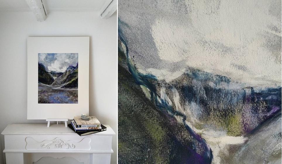Katja Schmitt New Zealand Fox Glacier 1 Pastel Painting