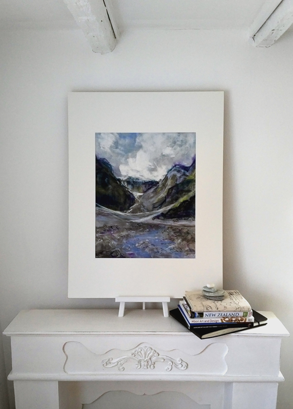 Katja Schmitt New Zealand Fox Glacier Framed