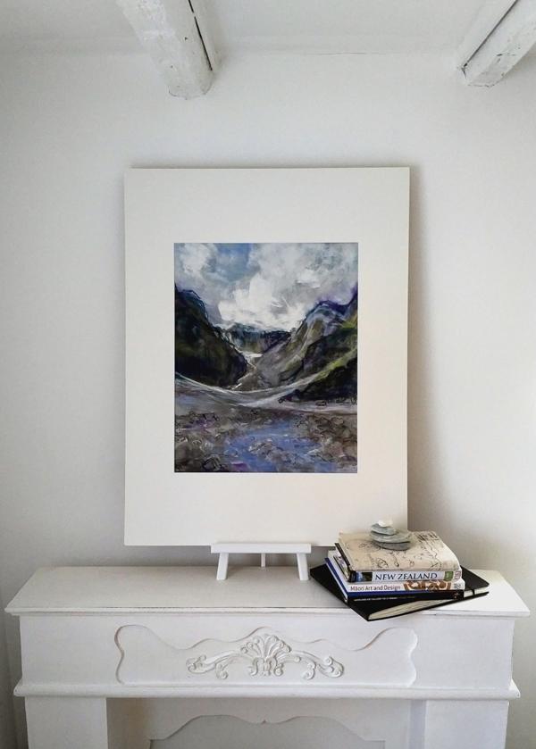 Katja Schmitt New Zealand Fox Glacier Framed