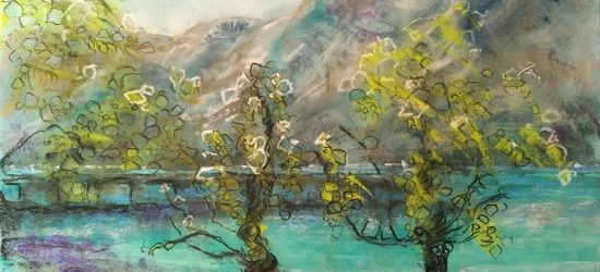 Katja Schmitt New Zealand Glenorchy 1 Pastel Painting