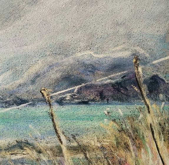 Katja Schmitt New Zealand Taiaroa Dunedin 1 Pastel Painting