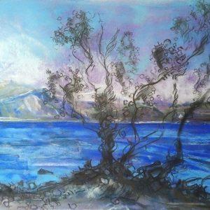Katja Schmitt New Zealand Wanaka 1 Pastel Painting