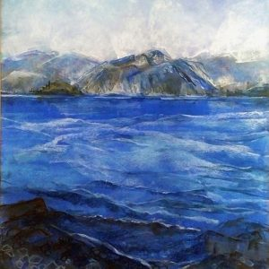 Katja Schmitt New Zealand Wanaka 2 Pastel Painting