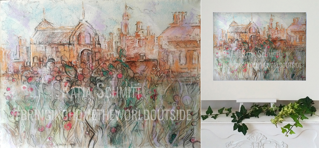 Katja_Schmitt_Hampton_Court_03_Pastel_Painting_Collage