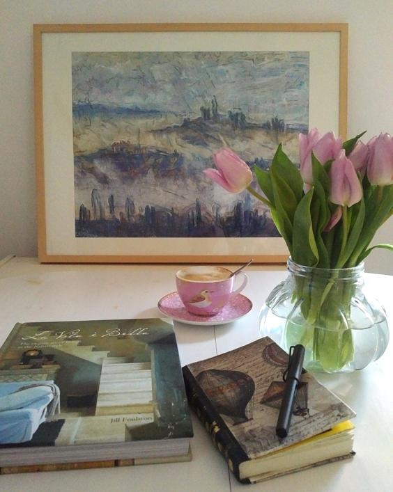 Katja Schmitt Toscana Blue Pastel Painting Vignette