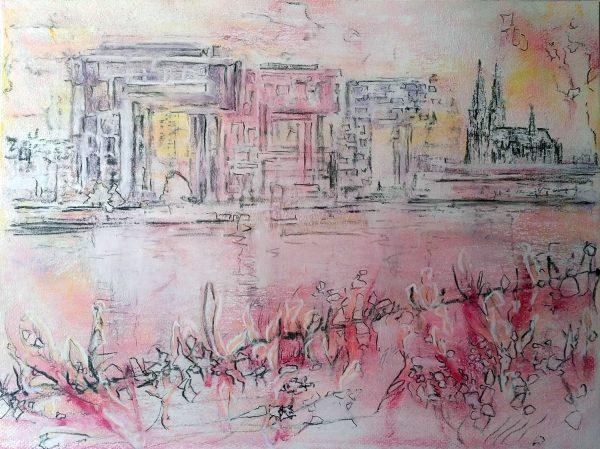 Katja_Schmitt_Cologne_Kranhaeuser_Pastel_Painting
