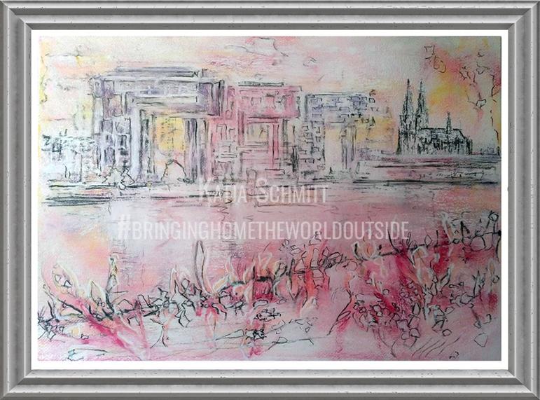 Katja_Schmitt_Cologne_Kranhaeuser_Pastel_Painting_Frame2