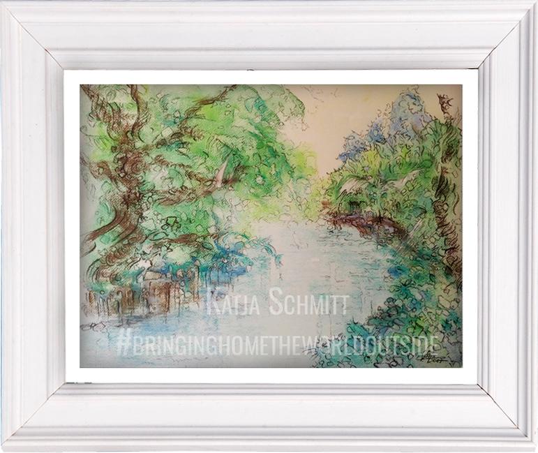 Katja_Schmitt_Lake Constance_Bodensee 02_Pastel_Painting_Framed