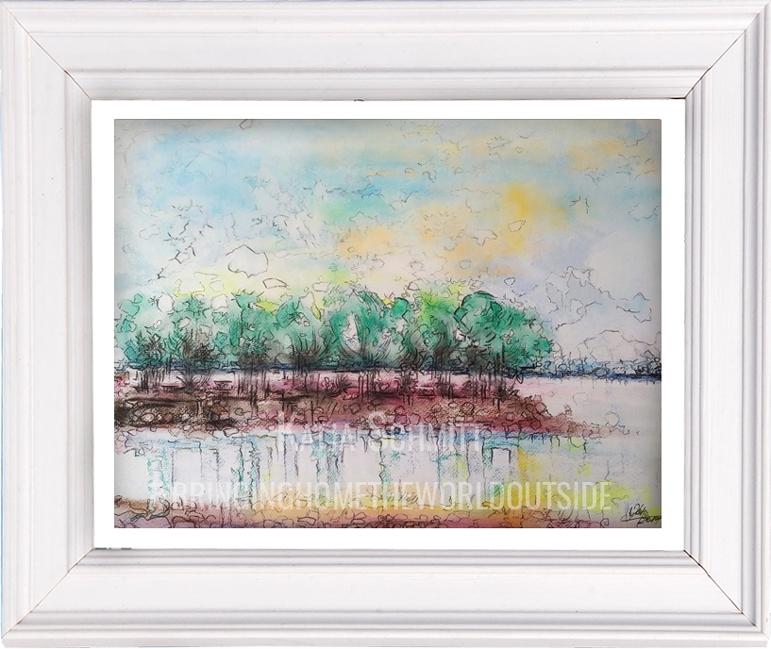 Katja_Schmitt_Lake Constance_Bodensee_Pastel_Painting_Framed