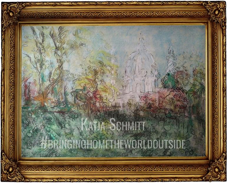 Katja_Schmitt_Vienna_Karlskirche_Pastel_Painting_Framed