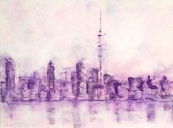 Katja Schmitt New Zealand Auckland Pastel Painting