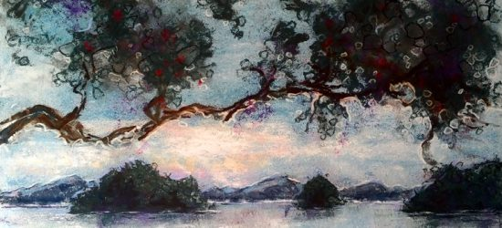 Katja Schmitt New Zealand Bay of Islands Pastel Painting