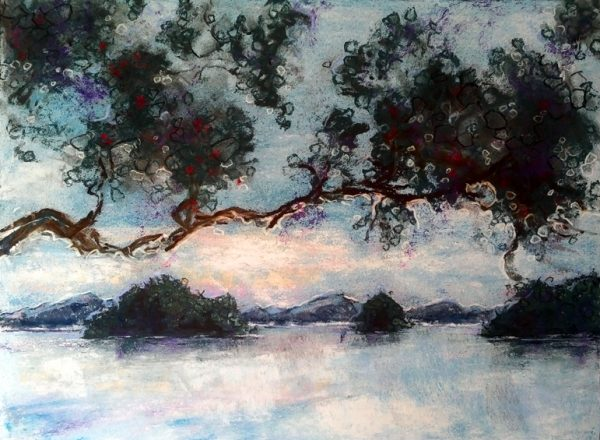 Katja Schmitt New Zealand Bay of Islands Pastel Painting