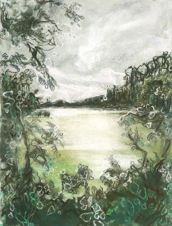 Katja Schmitt New Zealand Wai-O-Tapu Ngakoro Pastel Painting