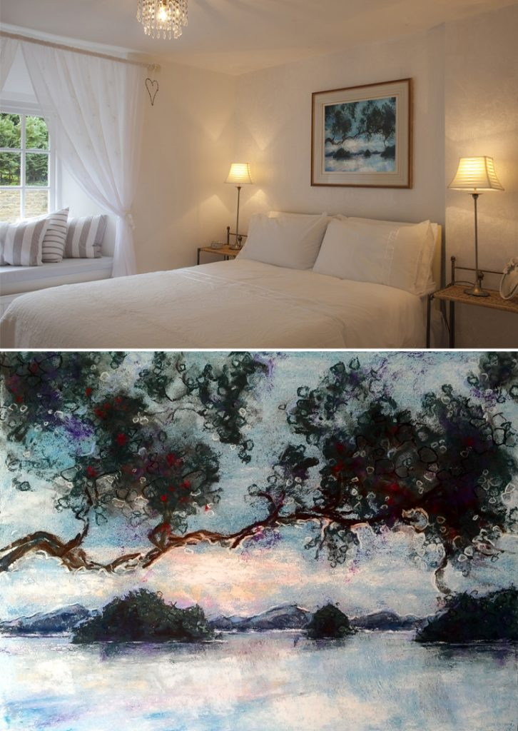 Katja Schmitt New Zealand Bay of Islands Pastel Painting Interior Bedroom