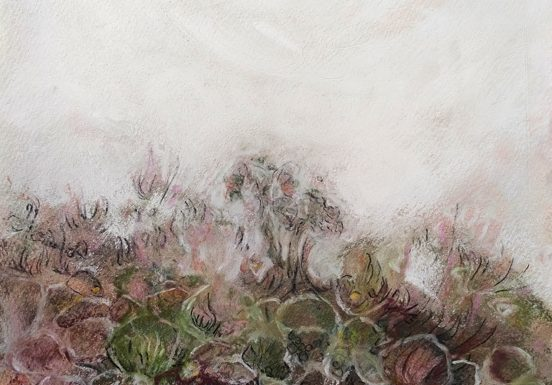 Katja Schmitt New Zealand Tongariro 1 Pastel Painting