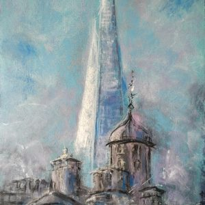Katja_Schmitt_London_Shard_Tower_Pastel_Painting