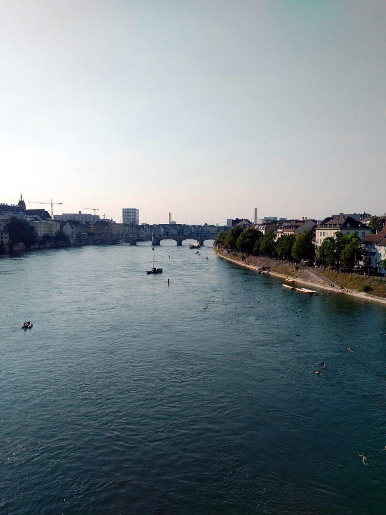 Katja Schmitt Basel Rhine Rhein Evening Bridge Bruecke Cityscape