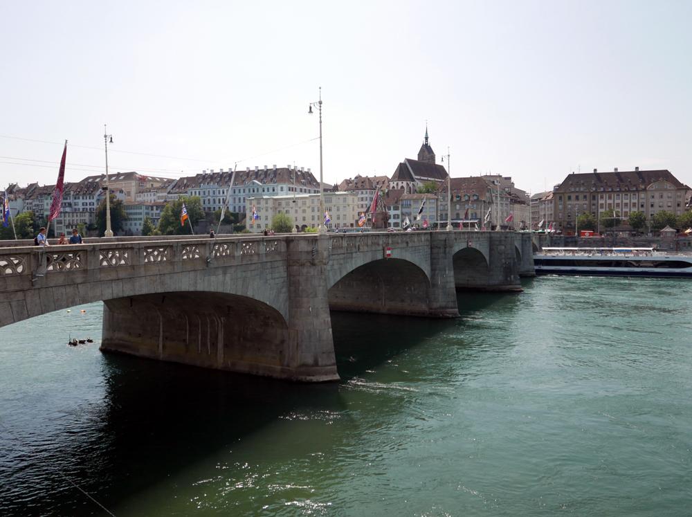 Katja Schmitt Basel Rhine Rhein Mittlere Bruecke Cityscape