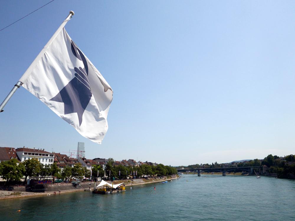 Katja Schmitt Basel Rhine Rhein Panorama Flag Fahne Wappen
