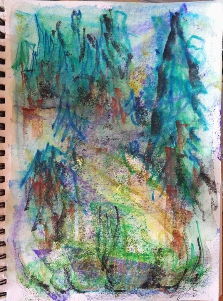 Katja Schmitt Schwarzwald Black Forest Skizze Sketch