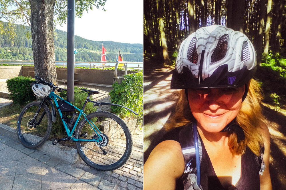 Katja Schmitt Schwarzwald Black Forest Titisee Bicycle Selfie