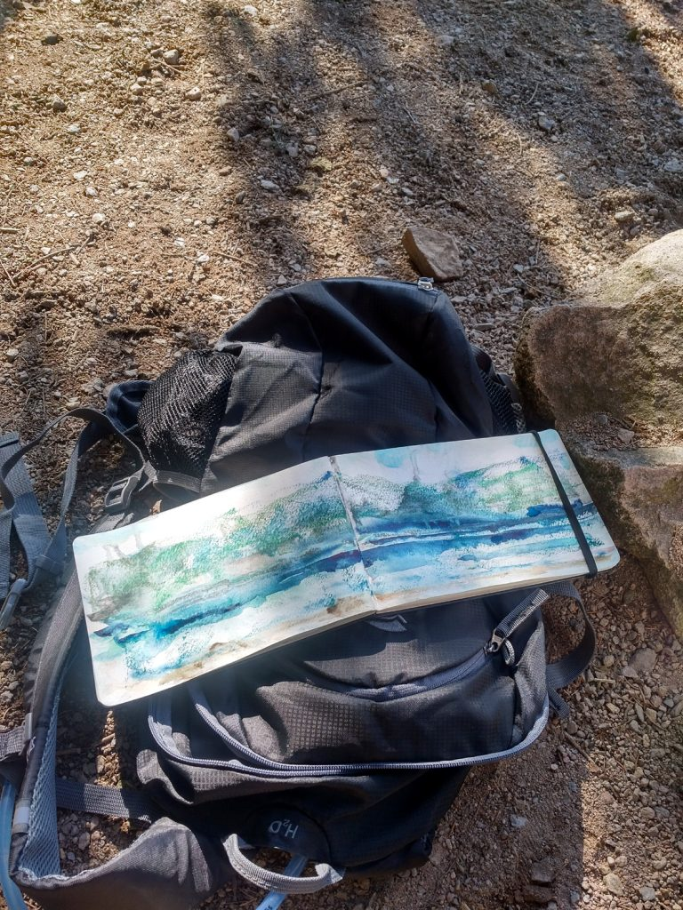 Katja Schmitt Sketchbook Skizzenbuch Lake Titisee