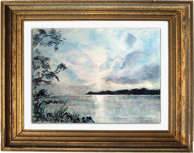 Katja Schmitt Lake Taupo Fine Art Pastel Painting