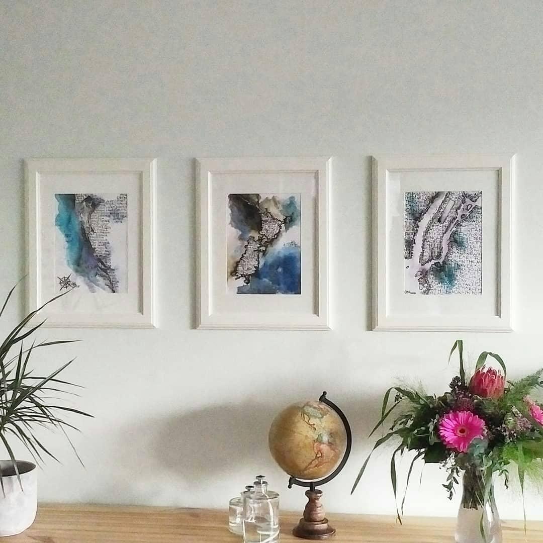 Katja Schmitt Cartographer's Art Serie Neuseeland New York Kroatien