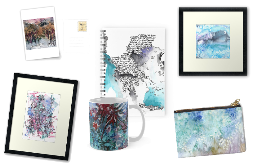 Katja Schmitt Aquarell Watercolour Christmas Prints Weihnachten Drucke