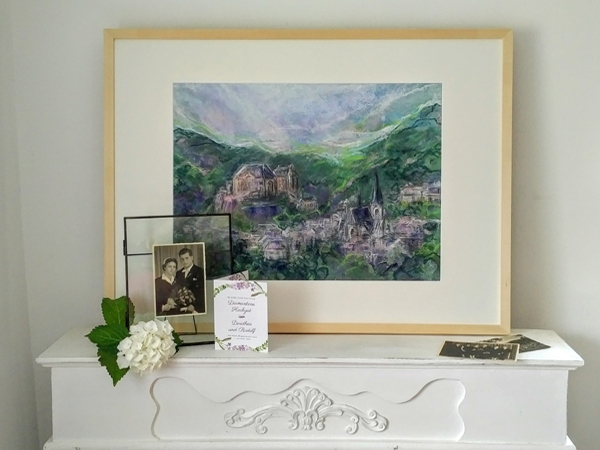 Katja Schmitt Malberg Diamanthochzeit Diamond Wedding Painting Vignette