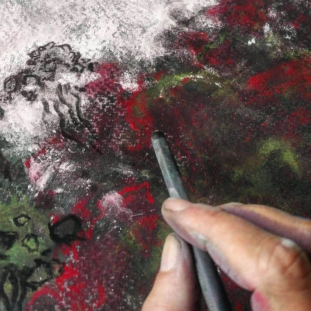 Katja Schmitt New Zealand Doubtful Sound 2 WIP Pastel Painting