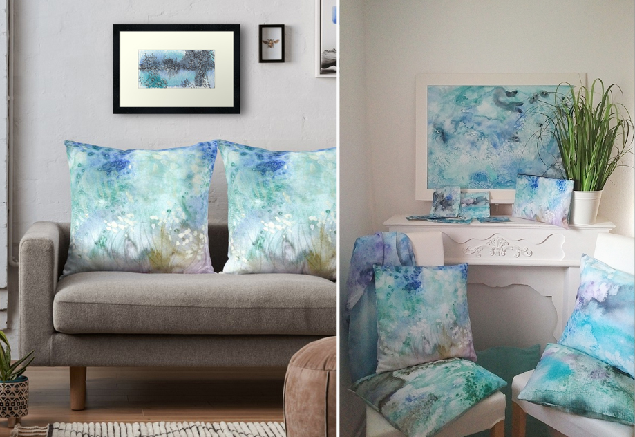 Katja Schmitt New Zealand Pacific Collection Watercolour Interiors