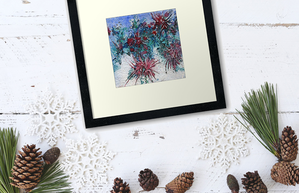 Katja Schmitt New Zealand Pohutukawa Watercolour Aquarell